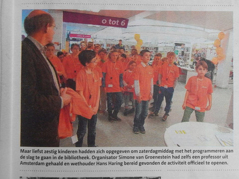CoderDojo in de Woerdense Courant – 6 april 2016