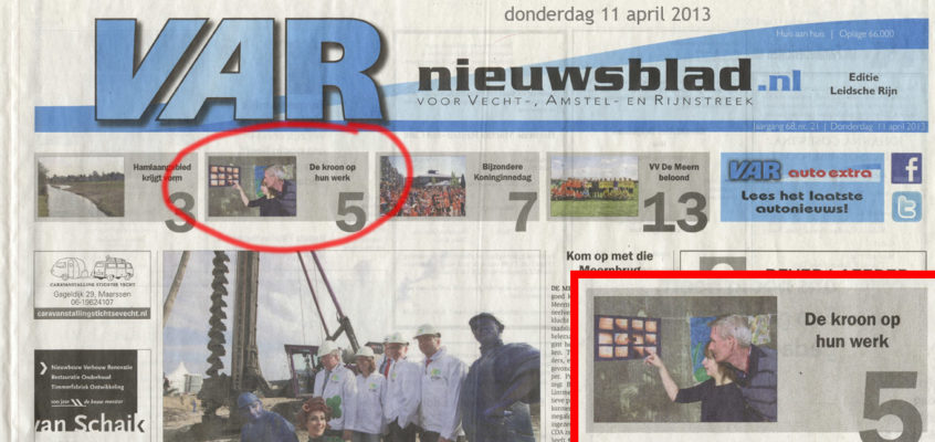 VAR – 11 april 2013 – voorpagina